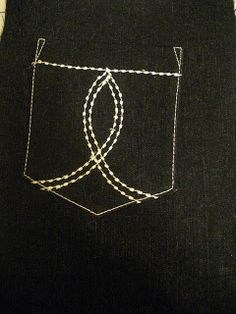 poches de jeans - Dianas Sewing Lessons: Designing a Jeans Back Pocket