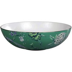 Wedgwood Jasper Conran Chinoiserie Green Serving Bowl 30cm (¥30,230) ❤ liked on Polyvore featuring home, kitchen & dining, serveware, bone china, green serving bowl, wedgwood serving bowl and wedgwood