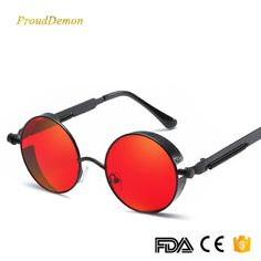 8c8f305d08 Cheap Sunglasses, Buy Directly from China New Retro Steampunk Round  Sunglasses Women Vintage Small Oval Glasses For Men Popular Black Metal  Spring Eyewear