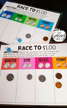 10 Steps for Teaching Money - The Sassy Apple Math Rotations, Math Centers, 2nd Grade Centers, Numeracy, Fun Math, Math Activities, Math Art, Second Grade Math, Grade 2 Math Games