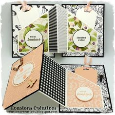 """Évasions Créatives: Atelier-Tuto { Carterie } """"Un déploiement d'amour..."""" Fun Fold Cards, Pop Up Cards, Folded Cards, Mini Albums Scrap, Interactive Cards, Stamping Up, Creative Cards, Projects To Try, Diy"""