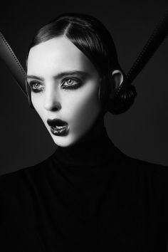 "black-white-madness: "" Madness: model - Bambi Ultra Model Agency Moscow make-up - Yana Novikova hair - Alexey Yaroslavtsev photo - Ekaterina Belinskaya forbes life mexico (cover story) """
