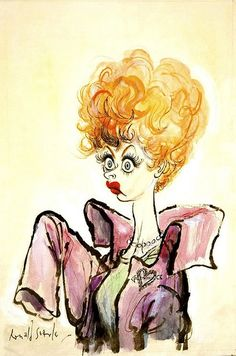 Lucy Caricature by Ronald Searle by Lucy_Fan, via Flickr