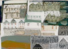 anne davies st ives back roads_r. Abstract Landscape, Landscape Paintings, Landscapes, Naive, Anne Davies, House Quilts, Outsider Art, Gravure, Art Techniques