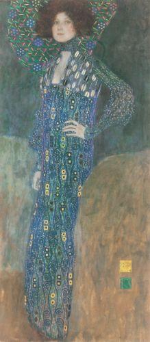 Gustav Klimt, Bildnis Emilie Flöge, 1902-04, oil on canvas, Wien Museum, Vienna