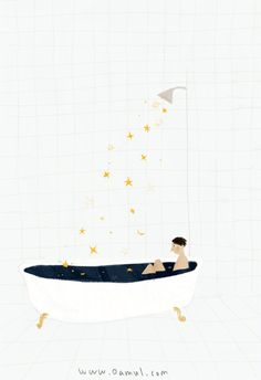 An gif/illustration which manages to be whimsical, magical and simple with just a few basic shapes. Home Bild, Art Graphique, Cute Illustration, Art Inspo, Design Art, Cool Art, Art Drawings, Art Photography, Gifs