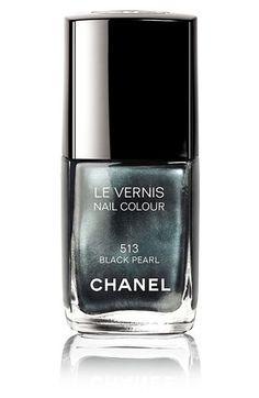 chanel nail polish in black pearl.