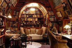 Casa Steampunk, Design Loft, Design Desk, Library Design, Stage Design, Set Design, Dream Library, Cozy Home Library, Attic Library