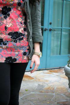 Floral Print Sweater Dress. Great Blog!