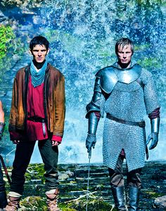 Only problem here is that Merlin isn't tripping, falling, lugging Arthur's stuff, or being sassy. He looks so boss-ish.