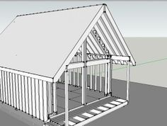 Gable roof extended for porch? - DIY Home Improvement, Remodeling & Repair Forum Gable Roof, White Flats, Diy Home Improvement, Porch, Stairs, Concept, Windows, Design, Home Decor