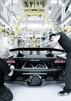 Lamborghini Factory Assembly line