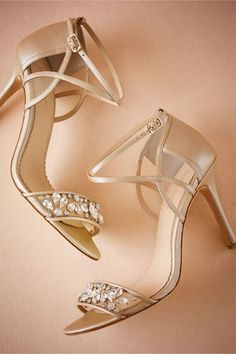 Design your own photo charms compatible with your pandora bracelets. BHLDN Pandora Heels in Shoes & Accessories Shoes at BHLDN Stilettos, High Heels, Bridesmaid Accessories, Women's Accessories, Cute Shoes, Me Too Shoes, Bridal Heels, Prom Heels, Green Wedding Shoes