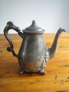 Pewter - Art Nouveau Teapot or Coffee Pot. Victorian Solid Pewter. Shaw and Fisher Sheffield. Pre 1894 was sold for R880.00 on 15 Oct at 11:01 by gregsact in Cape Town (ID:15998647) Pewter Art, Sheffield Silver, Cape Town, Teapot, Fisher, Buy Art, Art Nouveau, Victorian, Coffee