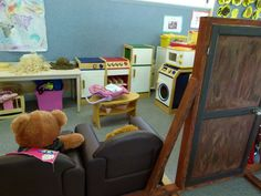 I LOVE this...actually turn your dramatic play center into the Three bears house!!!
