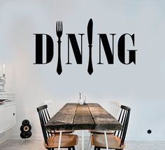 Vinyl Wall Decal Dining Room Kitchen Chef Cook Cutlery Stickers (ig4179)