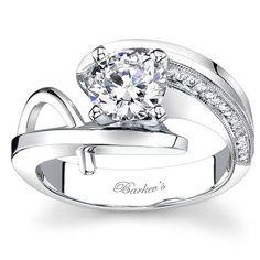 Barkev\'s Swirl Diamond Engagement Ring