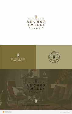 anchor $ mill vintage logo