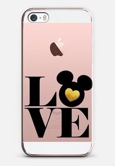 Gold Mickey Disney Love iPhone SE case by Emilee Parry | Casetify