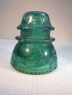 Ozarksfinds: How to Make Crackle Glass Insulators