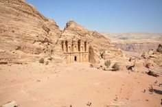 https://flic.kr/p/jK6iPD | The Monastery - Ad Deir | Al Khazneh is one of the most elaborate temples in the ancient Jordanian city of Petra. As with most of the other buildings in this ancient town -including the Monastery- this structure was carved out of a sandstone rock face. It has classical Greek-influenced architecture, and is a popular tourist attraction.  History  Al Khazneh was originally built as a mausoleum and crypt at the beginning of the 1st Century AD during the reign of…