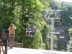 I love riding chairlifts and this one located at Natural Tunnel State Park in Scott County, VA takes you to the mouth of a 850' tunnel!  The tunnel has a babbling creek and an active railway line.  Cabins, campgrounds, swimming pool, hiking, caving, canoeing...the options are endless at Natural Tunnel!