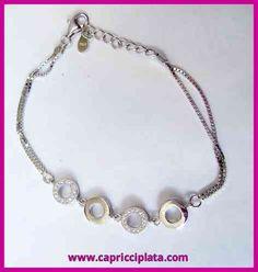 Pulsera de plata 925m La puedes encontrar en www.capricciplata.com y en  http://www.facebook.com/capricci.plata1  #pulseras #plata #joyas #moda #fashion #jewellry #silver #tendencia #regalos #shoppingonline #blackfriday #woman #look
