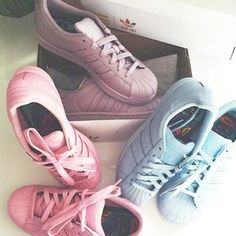 shoes adidas fashion style adidas superstars colorful trainers peng adidas trainers womens trainers adidas shoes adidas supercolor pink sneakers blue sneakers purple sneakers pastel adidas originals sneakers causal shoes pink blue