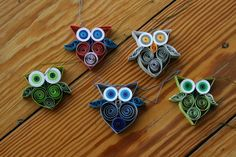 Quilling - Owl - Video Tutorial, in German, but looks easy enough to follow