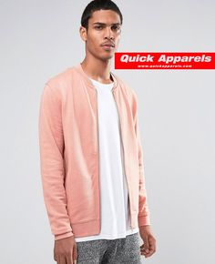 http://www.quickapparels.com/cotton-jersey-bomber-varsity-jacket-in-pink.html