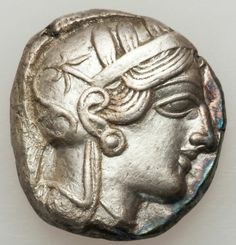 ATTICA. Athens. Ca. 454-404 BC. AR tetradachm (16.72 gm). Helmeted head of Athena right/ Owl right, head facing, olive sprig and crescent behind.