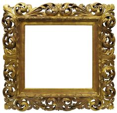 A Carved, Pierced and Gilded Florentine Frame, 18th/19th century, with gilt oak slip, cavetto sight, raked and centre tied branchwork front edge, the boldly scrolling leaf back edge with acanthus centres and corners, 69.1x73.9cm - Price Estimate: £800 - £1200