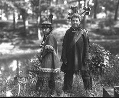 Mary Neptune, Benjamin Neptune at Deering Oaks Park in Portland, Maine - Passamaquoddy – 1920