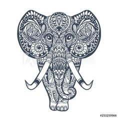African Tribal Tattoos, Tribal African, African Image, Tattoo T Shirts, Tangle Art, African Tribes, Elephant Tattoos, African Animals, Tattoos For Women Small