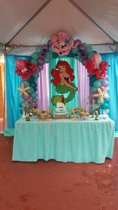Love the octopus balloons 2 Birthday, Mermaid Theme Birthday, Little Mermaid Birthday, Little Mermaid Parties, Baby Girl Birthday, 4th Birthday Parties, Birthday Party Decorations, Little Mermaid Decorations, Samara