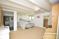 Brilliant white Bedroom with en suite in Cornish barn conversion - impressive!