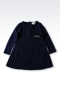 Robe Armani Junior - ROBE EN MAILLES CÔTELÉES Armani Junior Online Store Officiel