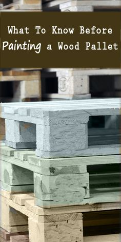 what methods are best for painting wood pallets