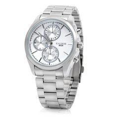 Hoy con el 50% de descuento. Llévalo por solo $27,000.KALBOR 8026 banda de acero inoxidable reloj de cuarzo Hombre.
