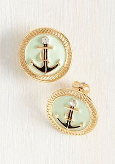 Sail Aweigh Earrings. Set sail for fashion perfection by adorning your ensemble with these enamel earrings! #mint #modcloth