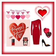 """""""Valentines's"""" by bellaclairecassedemont ❤ liked on Polyvore featuring Donna Karan, Godiva, Christian Louboutin, Finn, NARS Cosmetics, Forever 21, women's clothing, women, female and woman"""