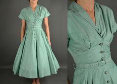 Vintage Dress 1950s Dress 50s Dress full skirt