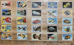 Vintage Dan Dare 1950s Toothpaste Trading Cards Complete Set of 25, F.C. Calvert & Co. Ltd. Manchester, All Mint Condition, VERY RARE!!!