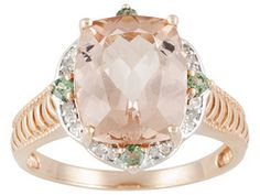 Cor-de-rosa Morganite And Alexandrite 5.05ctw With Diamond Accent 10k Rose Gold Ring - Jtv $349