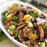 Quinoa Mushroom Pilaf by Gluten Free Goddess