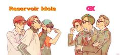 [FANART] cr. to the owner      Reservoir Idols vs. CBX, who's gonna win?      31st october COME TO ME NOW PLS!!!