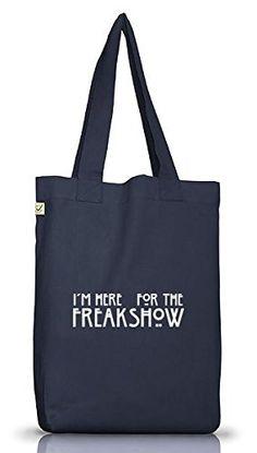 Shirtstreet24, AHS - Freak Show, Jutebeutel Stoff Tasche Earth Positive (ONE SIZE), Größe: onesize,Jeans Blue - http://herrentaschenkaufen.de/shirtstreet24/one-size-shirtstreet24-ahs-freak-show-jutebeutel-9