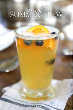 Summer Brew Cocktail : Wheat Beer with, Vodka, Orange & Blueberry