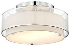 "Possini Euro Design Double Organza 16"" Wide Ceiling Light - contemporary - ceiling lighting - - by Euro Style Lighting"