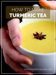 ♥ Turmeric Tea ♥  Try it, it just doesn't have that turmeric taste. Add 1/2 ginger powder for a very warming tea.